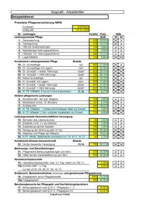 Leistungsauswertung SGB XI NRW_Beispiel_Preisliste